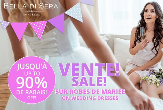 October Event Bella di Sera Wedding Dress Sale Up To 90% Off!